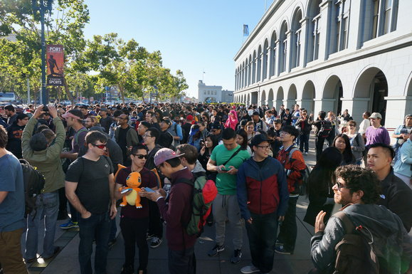 Pokemon Go Ferry Building Mob