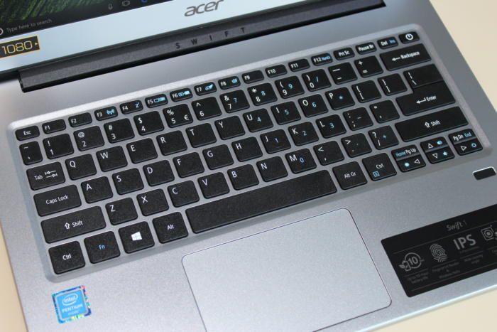 acer swift 1 keyboard