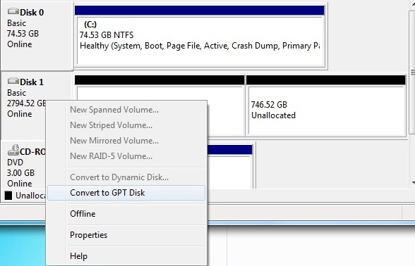 how to partition secondary hard drive