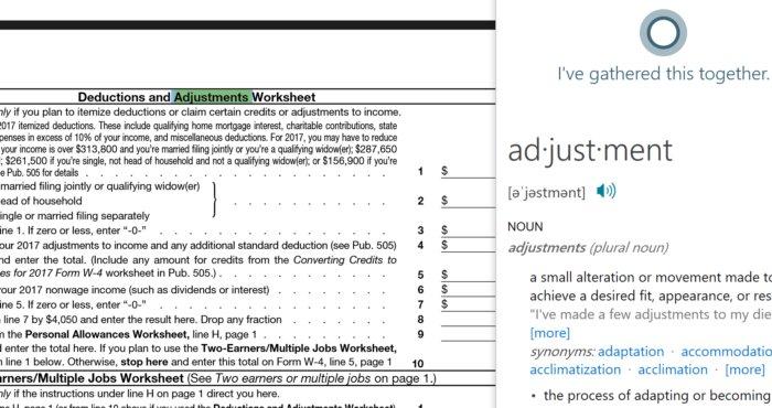 Edge PDF cortana
