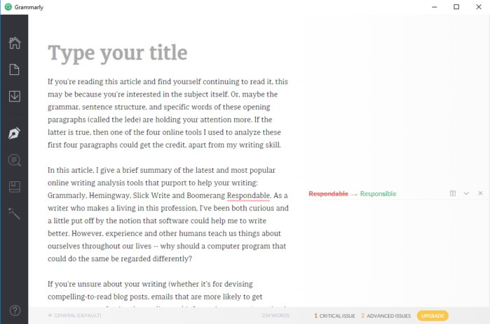 writing analyze grammarly