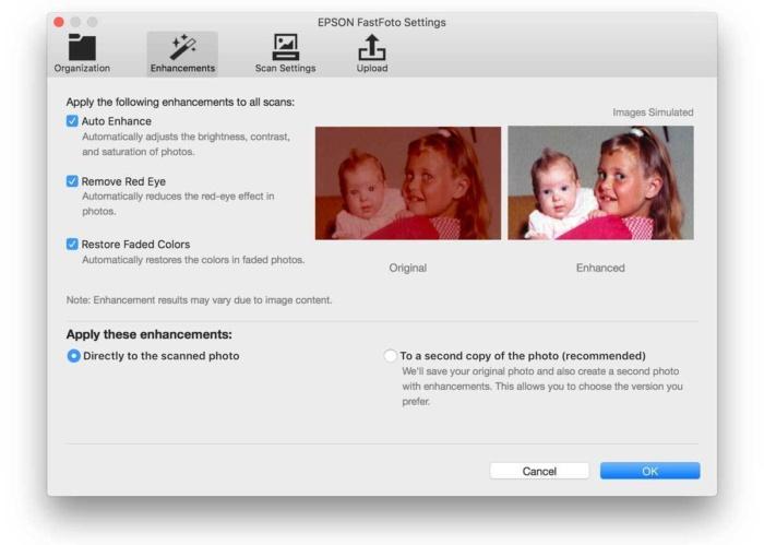 epson fastfoto enhance settings