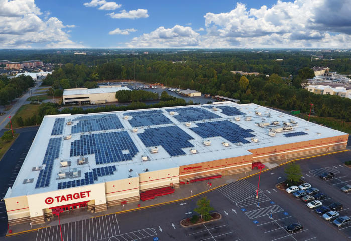 target greenville Solar power