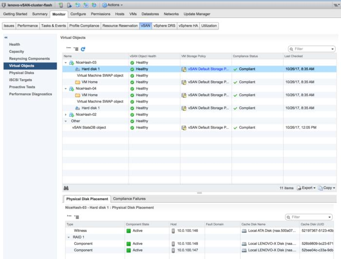 vsan monitor virtual objects of vms