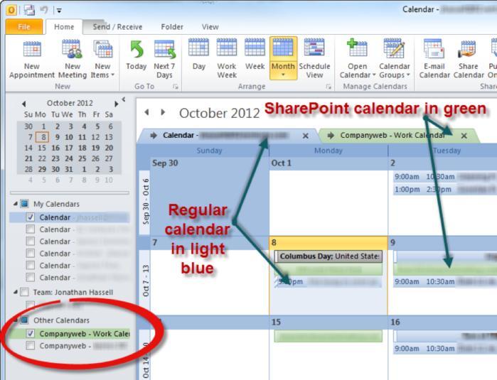 SharePoint Online - calendar overlay