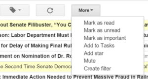 gmail filter beginning option