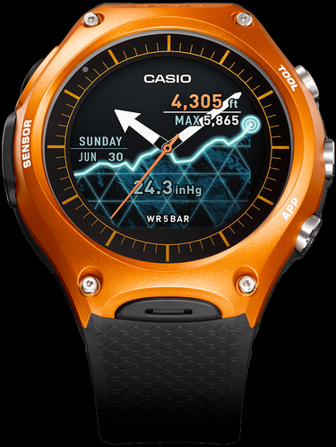 Cascio smart outdoor watch orange