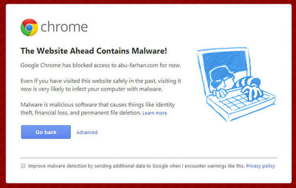 chromewarning