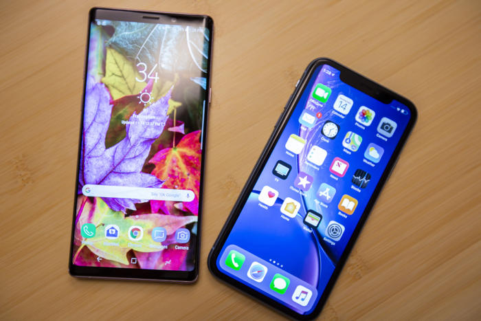 iphone xs vs android note9