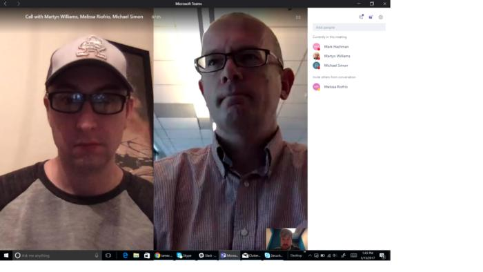 Microsof teams video chat