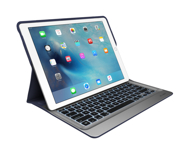 logi create keyboard case blue