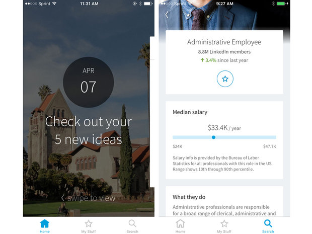 linkedin students app ios