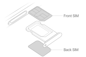 iphone dual sim illustration line drawing