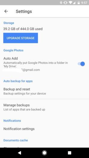 add to google drive