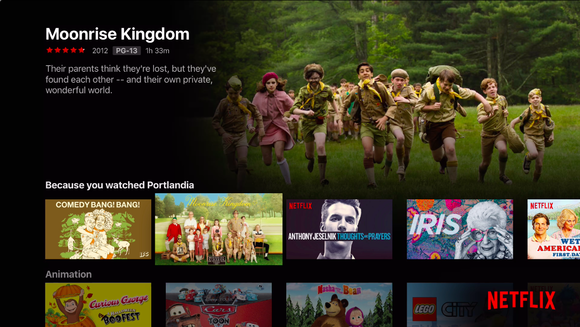 appletv netflix interface