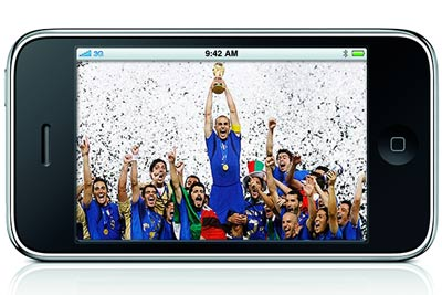 Watching the 2010 FIFA World Cup on your mobile phone