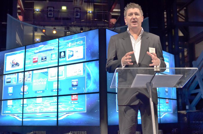 Samsung Slim LED TV launch, Phil Newton