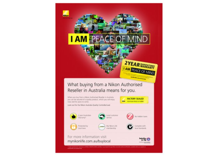 Nikon Australia I AM Peace of Mind campaign