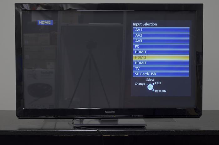 Panasonic VIERA UT30 3D menu