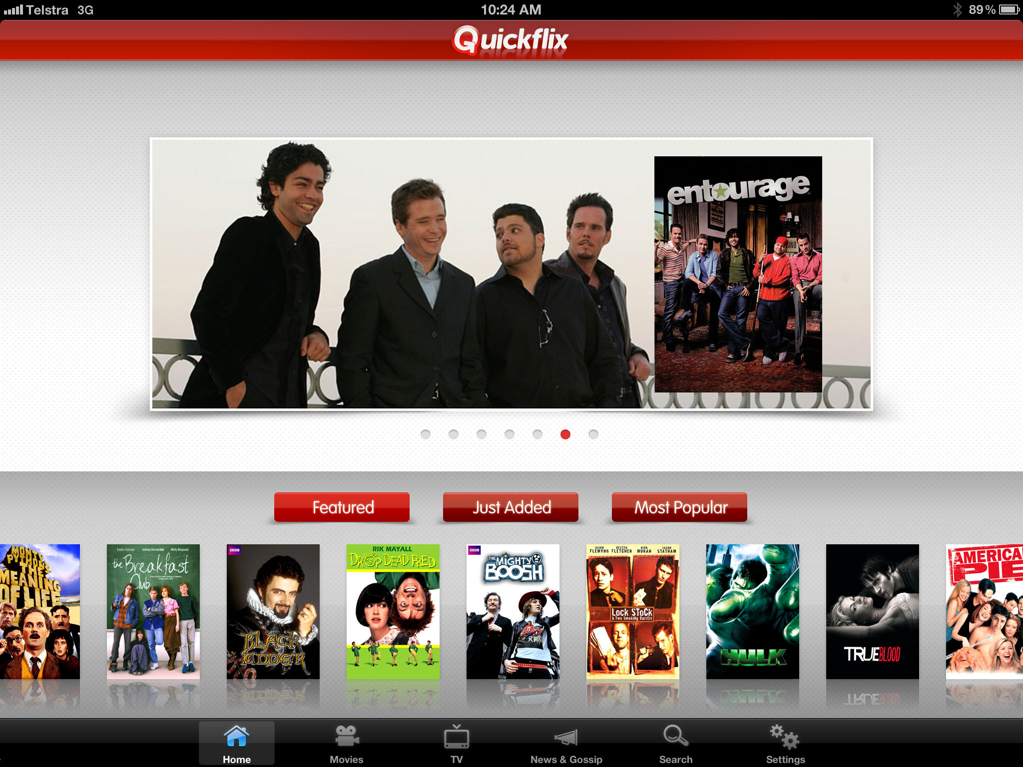 Quickflix on iPad