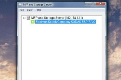 MFP and Storage Server utility